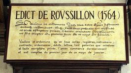 Édit de Roussillon, 09 août 1564.