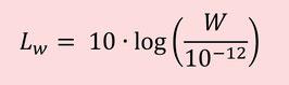 Nivel de potencia sonora con referencia (10-12W)
