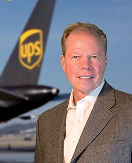 UPS Airlines' Chief Brendan Canavan applauds the 747-8F deal  -  courtesy UPS