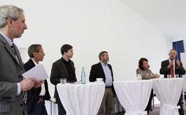 Eduard Hannen, Uwe Dreyer, Dr. Stefan Watzke, Ludger Lamping, Reinhild Wantia, Hubert Borgmann (v. li.)