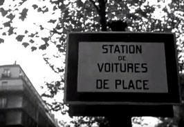 """Panneau """"station de voitures de place"""""""