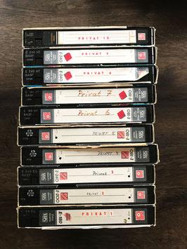 VHS-Kassetten mit Beschriftung
