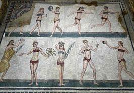 Mosaico de la villa romana del Casale © Antrophistoria/ Italia