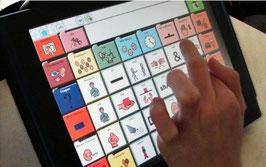 Die Kinder arbeiten in der UK mit iPads