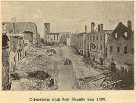 Marktplatz nach dem Brand 1899