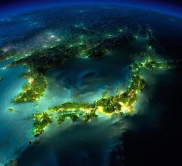 日本列島の夜