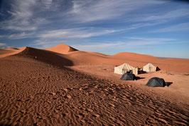 Nachtcamp in den Dünen der Sahara