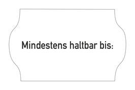 Etiketten 26x16 mm MHD Mindestens haltbar bis