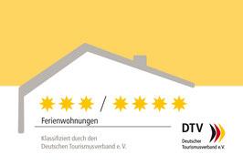 Klassifizierte Unterkunft vom Deutschen Tourismusverbandes DTV-Sterne