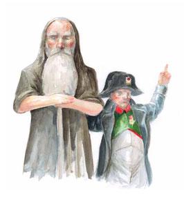 Illustration aus Noah und Napoleon (S. Meschenmoser)