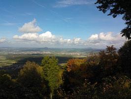 Blick vom Wasserberghaus auf die drei Kaiserberge Hohenstaufen, Rechberg uns Stuifen
