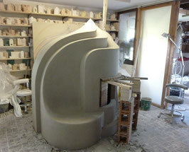 Baukeramik , Kachelofen , Überschlagsofen , Ofenherstellung