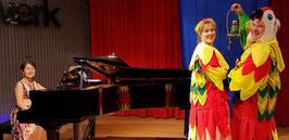 mit Papageno und Papagena パパゲーノ、パパゲーナと@Musikschule Niederkassel