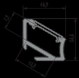 Aluminium Eckprofil 30/60°