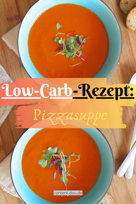 Low-Carb-Rezept: Pizzasuppe