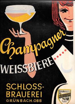 Werbung für die Champagnerweisse 1950