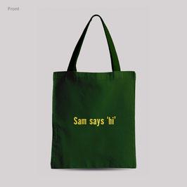 tasje Sams says 'hi'