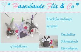 Die 3er Hasenbande FLIX als EBook / Nähanleitung & Schnittmuster