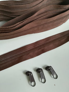 Spiral Reißverschluß, Meterware inkl. 3 Zipper