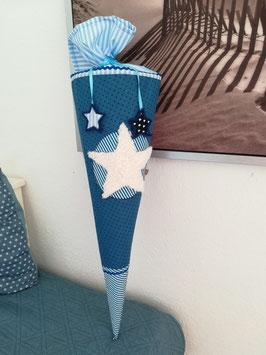 Schultüten Hülle mit Stern und Namen