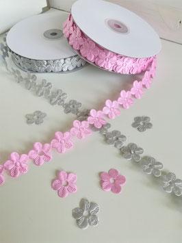 1m Satin Blumenband, 22mm breit