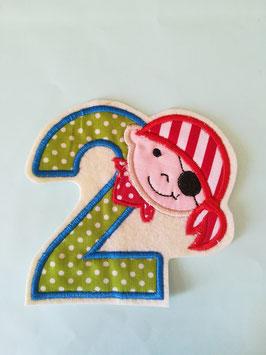 Geburtstags Zahlen für kleine Piraten