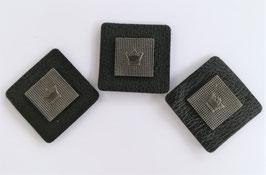 Kunstleder Patch mit Krone, 30mm