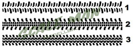 Reifenspur-Aufkleber V1 Paar (2 Stück)