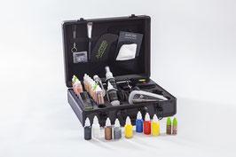 Airbasekoffer Basis, alle erhältlichen flüssigen Farben in 30 ml inkl. Highlighter 10 ml (inkl. neuen Aquatönen)