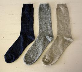 メンズ靴下(リネンニット)