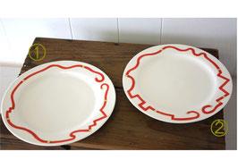 色絵デザート皿