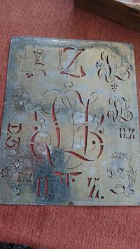 Zinkblech-Schablone, ca. 185 x 150mm