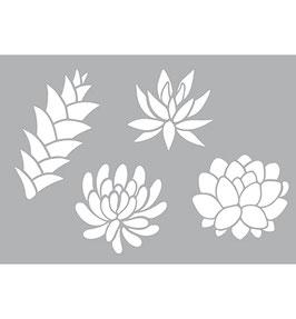 Stencil Vetplantjes, A4