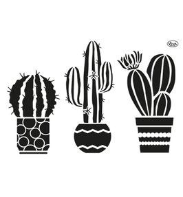 Stencil Cactus, A4