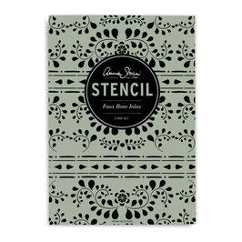 Stencil Faux Bone Inlay - Annie Sloan