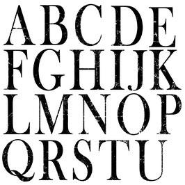 Dubbele stempelset Typesetting
