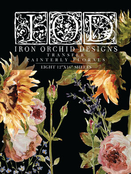 PAINTERLY FLORALS - IRON ORCHID DESIGNS, TRANSFER
