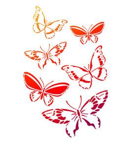 Stencil Vlinders, A4