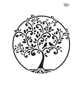 Stencil Levensboom, A4