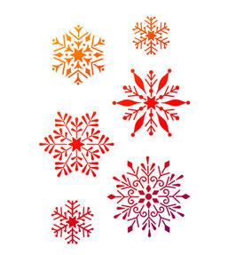 Stencil Snowflakes, A4