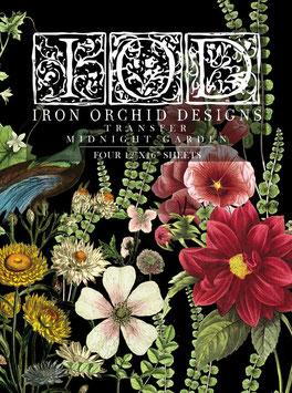 MIDNIGHT GARDEN - IRON ORCHID DESIGNS, TRANSFER