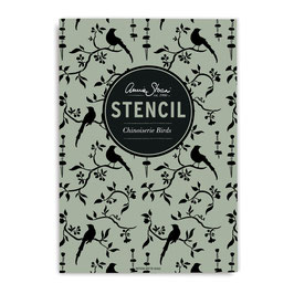 Stencil Chinoiserie Birds - Annie Sloan