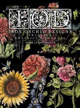 BOTANIST'S JOURNAL - IRON ORCHID DESIGNS, TRANSFER