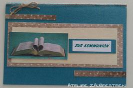 Kommunionkarte Bibel