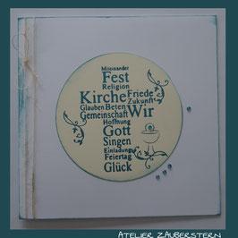 Kommunionkarte Kreuz/Gedicht