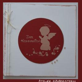 Kommunionkarte Engel betend