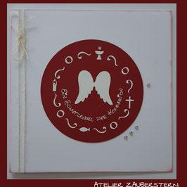 Kommunionkarte Engelflügel