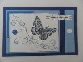 Karte Firmung verträumter Schmetterling