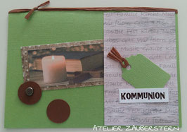 Kommunionkarte Kerzenschein