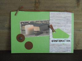 Konfirmationkarte Kerzenschein